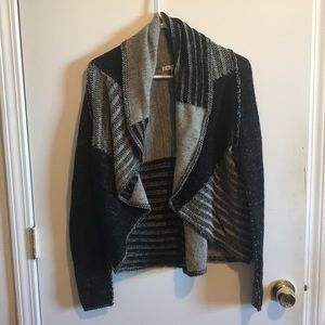Black and grey knitted sweater from Cabi